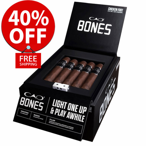 CAO Bones Matador Churchill (7.2x54 / Box 20) + 40% OFF + FREE SHIPPING ON YOUR ENTIRE ORDER!