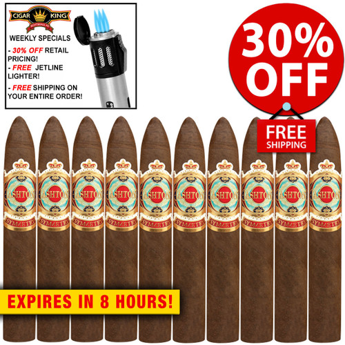 Ashton Symmetry Sublime (6x52 / 10 PACK SPECIAL) + 30% OFF RETAIL! + FREE JETLINE LIGHTER! + FREE SHIPPING ON YOUR ENTIRE ORDER!