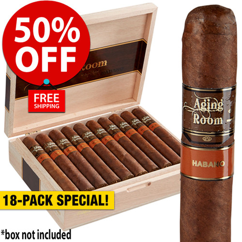 Aging Room by Rafael Nodal Habano Mezzo Toro (6x54 / 18 Pack) + 50% OFF RETAIL! + FREE SHIPPING ON YOUR ENTIRE ORDER!