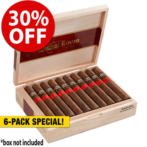 Aging Room by Rafael Nodal Maduro Mezzo Toro (6x54 / 6 Pack) + 30% OFF RETAIL!