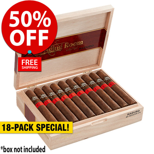 Aging Room by Rafael Nodal Maduro Mezzo Toro (6x54 / 18 Pack) + 50% OFF RETAIL! + FREE SHIPPING ON YOUR ENTIRE ORDER!