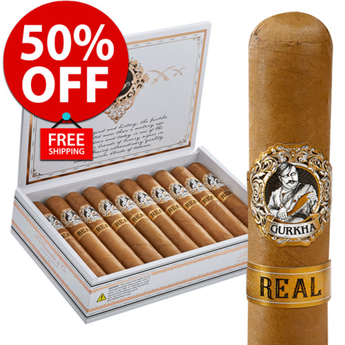 Gurkha Real Churchill (7x52 / Box 20) + 50% OFF RETAIL! + FREE SHIPPING ON YOUR ENTIRE ORDER!