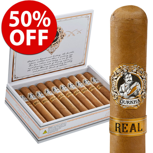 *SOLD OUT* Gurkha Real Robusto (5x52 / Box 20) + 50% OFF RETAIL!