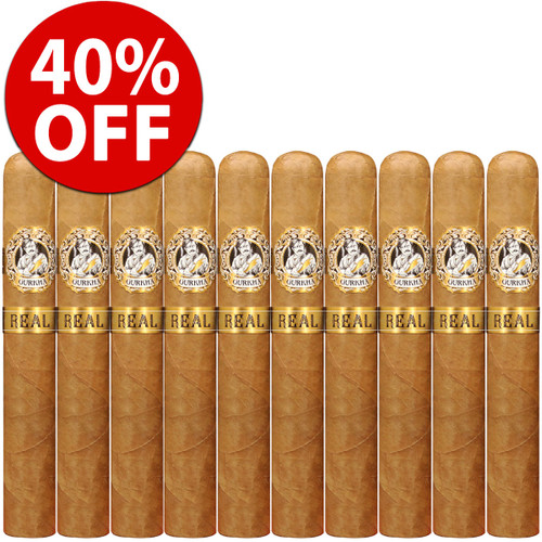 *SOLD OUT* Gurkha Real Robusto (5x52 / 10 PACK SPECIAL) + 40% OFF RETAIL!