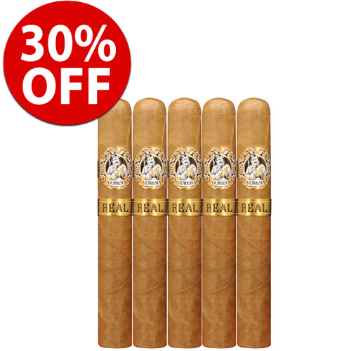 *SOLD OUT* Gurkha Real Robusto (5x52 / 5 Pack) + 30% OFF RETAIL!