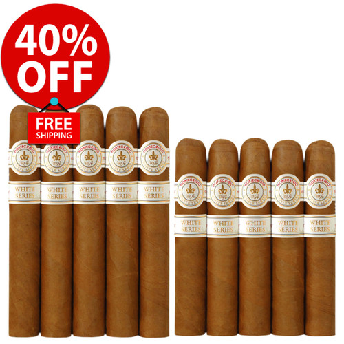 Montecristo White Toro vs Rothchilde (10 PACK SPECIAL) + 40% OFF! + FREE SHIPPING ON YOUR ENTIRE ORDER!