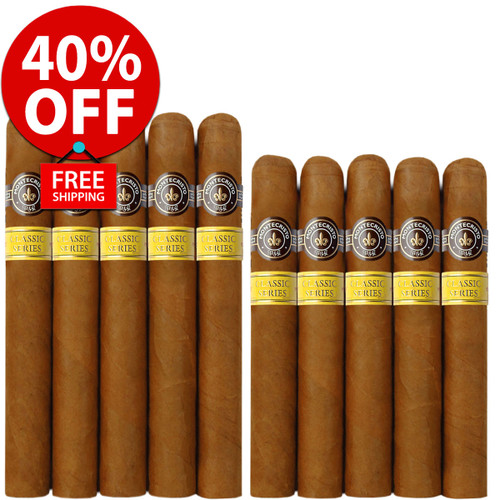 Montecristo Classic Churchill vs Toro (10 PACK SPECIAL) + 40% OFF! + FREE SHIPPING ON YOUR ENTIRE ORDER!