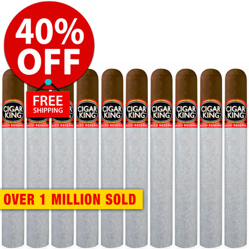 Cigar King Aged Reserve Maduro Toro (6x52 / 10 PACK SPECIAL) + 40% OFF RETAIL! + FREE SHIPPING ON YOUR ENTIRE ORDER!