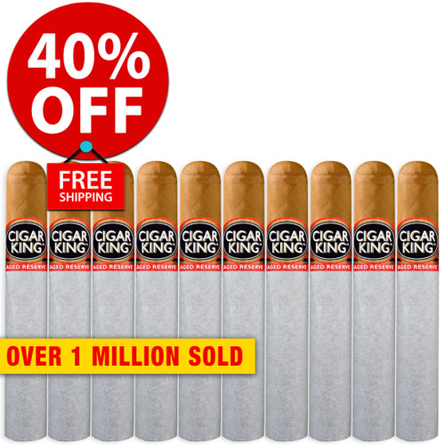 Cigar King Aged Reserve Natural Robusto (5x50 / 10 PACK SPECIAL) + 40% OFF RETAIL! + FREE SHIPPING ON YOUR ENTIRE ORDER!