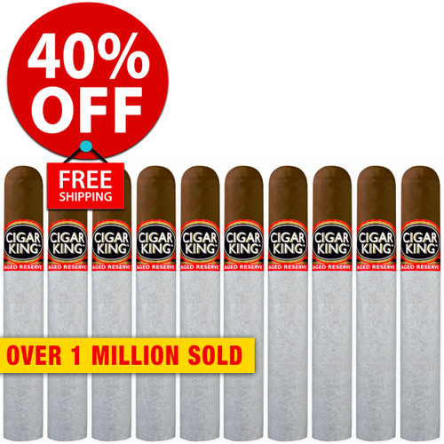 Cigar King Aged Reserve Maduro Robusto (5x50 / 10 PACK SPECIAL) + 40% OFF RETAIL! + FREE SHIPPING ON YOUR ENTIRE ORDER!