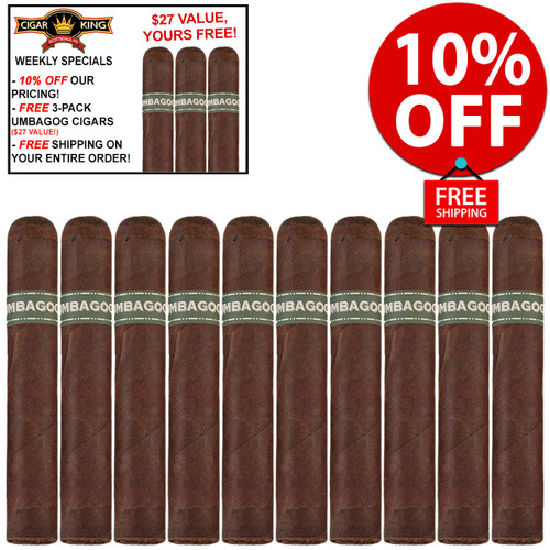 Umbagog Robusto Plus (5x52 / 10 PACK SPECIAL) + 10% OFF! + FREE 3-PACK OF UMBAGOG CIGARS! + FREE SHIPPING ON YOUR ENTIRE ORDER!