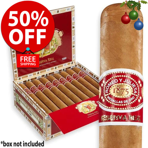 Romeo y Julieta Reserva Real Toro (6x54 / 24 Pack) + 50% OFF! + FREE SHIPPING ON YOUR ENTIRE ORDER!
