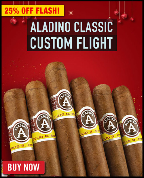 Aladino Classic Cuban Corojo Custom Flight (6 PACK SAMPLER) + SPECIAL XMAS DISCOUNT + FREE SHIPPING ON YOUR ENTIRE ORDER!