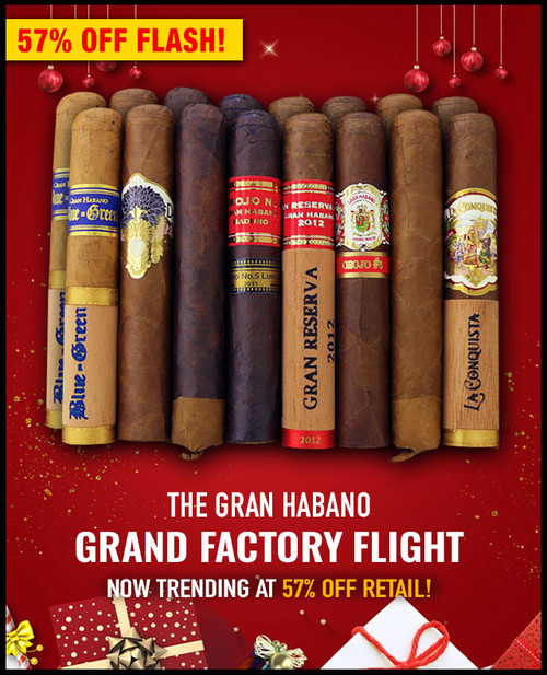 Gran Habano Grand Factory Flight (5.25x52 / 16 PACK SAMPLER) + SPECIAL XMAS DISCOUNT + FREE SHIPPING ON YOUR ENTIRE ORDER!