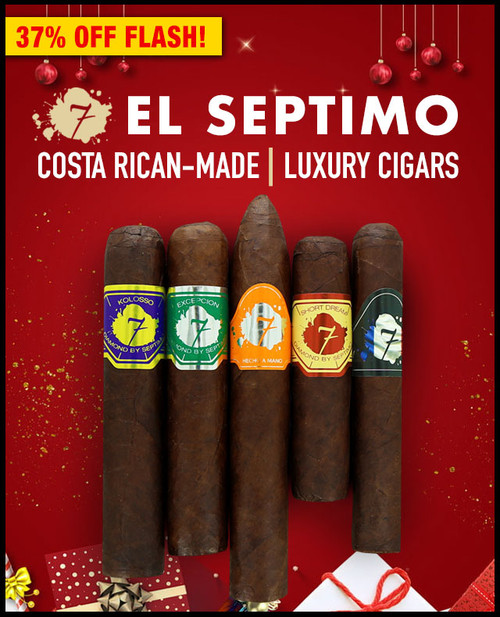 El Septimo Geneva Costa Rican Brand Sampler (5 PACK SAMPLER) + SPECIAL XMAS DISCOUNT + FREE SHIPPING ON YOUR ENTIRE ORDER!