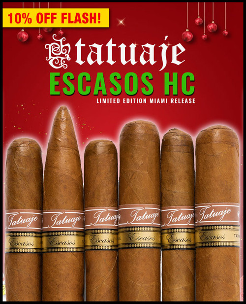 Rare Tatuaje Escasos HC Miami Flight (6 PACK SAMPLER) + SPECIAL XMAS DISCOUNT + FREE SHIPPING ON YOUR ENTIRE ORDER!