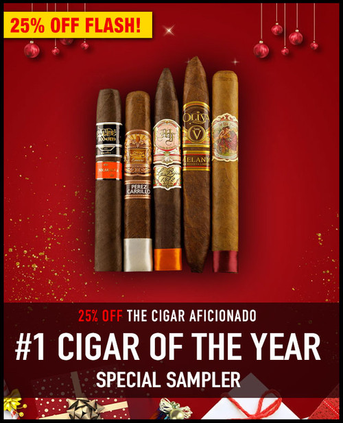 Cigar Aficionado #1 Cigar Of The Year Sampler (10 PACK SAMPLER) + SPECIAL XMAS DISCOUNT + FREE SHIPPING ON YOUR ENTIRE ORDER!