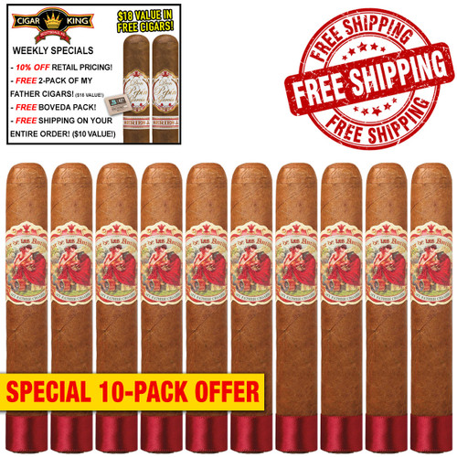 My Father Flor de las Antillas Toro Gordo (6.5x56 / 10 PACK SPECIAL) + 10% OFF RETAIL! + 2 BONUS MY FATHER CIGARS! ($18 VALUE!) + BOVEDA PACK! + FREE SHIPPING ON YOUR ENTIRE ORDER!