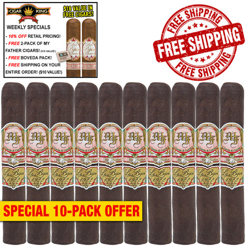 My Father Le Bijou 1922 Torpedo Box-Press (6.1x52 / 10 PACK SPECIAL) + 10% OFF RETAIL! + 2 BONUS MY FATHER CIGARS! ($18 VALUE!) + BOVEDA PACK! + FREE SHIPPING ON YOUR ENTIRE ORDER!