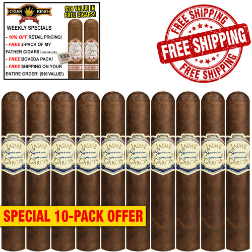My Father Jaime Garcia Toro Gordo (6x60 / 10 PACK SPECIAL) + 10% OFF RETAIL! + 2 BONUS MY FATHER CIGARS! ($18 VALUE!) + BOVEDA PACK! + FREE SHIPPING ON YOUR ENTIRE ORDER!