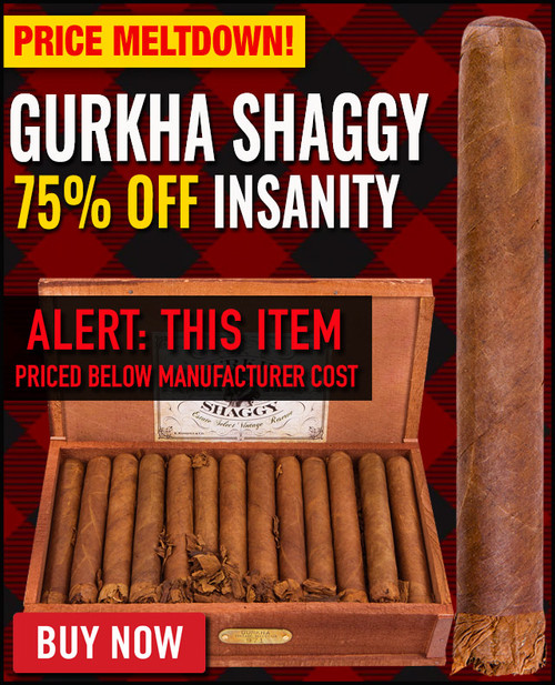 Gurkha Vintage Shaggy Robusto (5x52 / 40 PACK SPECIAL) + 75% OFF! + FREE SHIPPING ON YOUR ENTIRE ORDER!