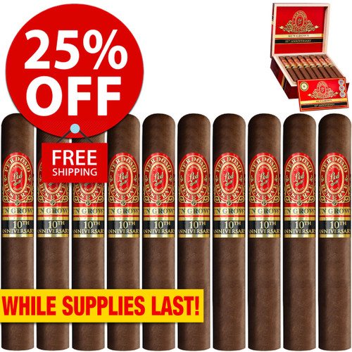 Perdomo Reserve 10th Anniversary BP Sun Grown Robusto (5x54 / 10 PACK SPECIAL) + 25% OFF RETAIL! + FREE SHIPPING ON YOUR ENTIRE ORDER!