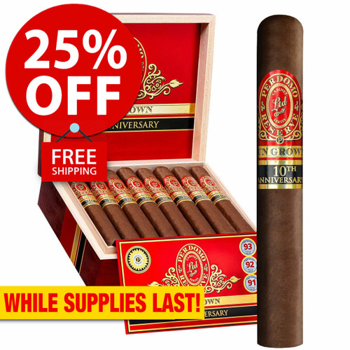 Perdomo Reserve 10th Anniversary BP Sun Grown Churchill (7x54 / Box 25) + 25% OFF RETAIL! + FREE SHIPPING ON YOUR ENTIRE ORDER!