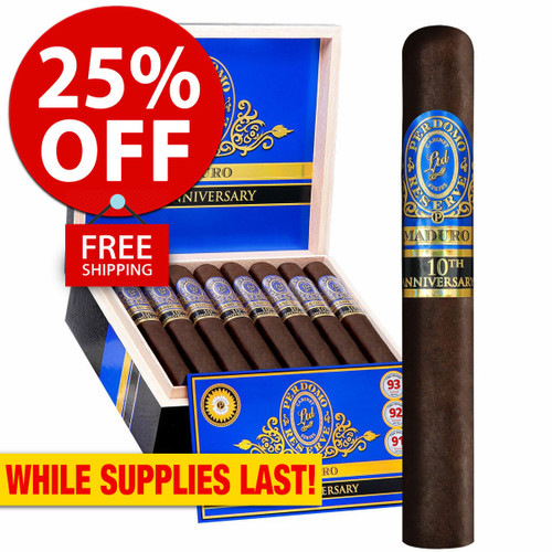 Perdomo Reserve 10th Anniversary BP Maduro Churchill (7x54 / Box 25) + 25% OFF RETAIL! + FREE SHIPPING ON YOUR ENTIRE ORDER!