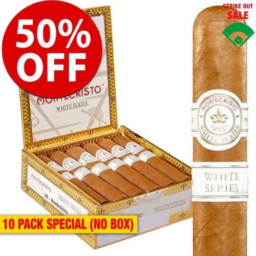 Montecristo White Toro (6x54 / 10 PACK SPECIAL) + 50% OFF RETAIL!