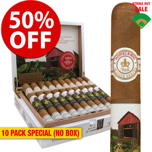 Montecristo White Vintage Connecticut Double Corona (6.2x50 / 10 PACK SPECIAL) + 50% OFF RETAIL!