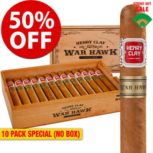 Henry Clay War Hawk Toro (6x50 / 10 PACK SPECIAL) + 50% OFF RETAIL!