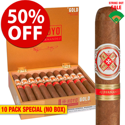 Hoyo La Amistad Gold Robusto (5x54 / 10 PACK SPECIAL) + 50% OFF RETAIL!