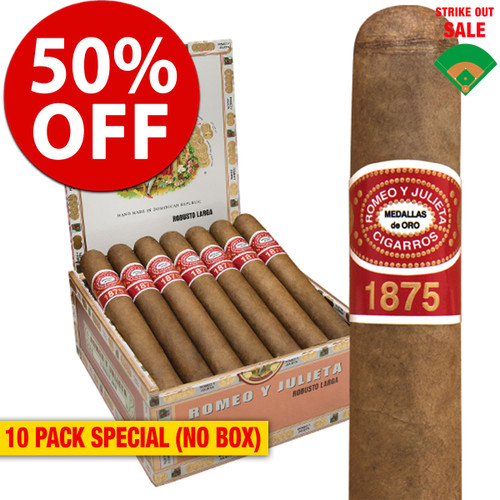 Romeo y Julieta 1875 Bully (5x50 / 10 PACK SPECIAL) + 50% OFF RETAIL!