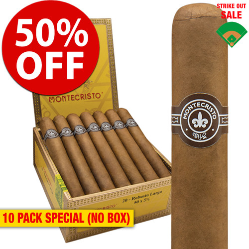 Montecristo Robusto (5x50 / 10 PACK SPECIAL) + 50% OFF RETAIL!