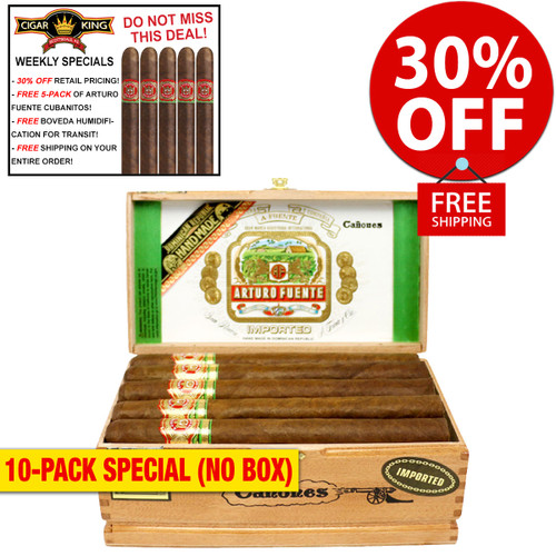 Arturo Fuente Canones (8.5x52 / 10 PACK SPECIAL) + 30% OFF RETAIL! + FREE 5-PACK FUENTE CUBANITOS! + FREE SHIPPING ON YOUR ENTIRE ORDER!