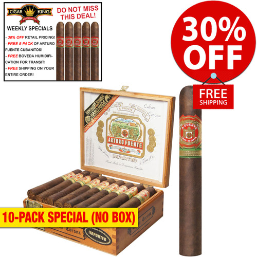 Arturo Fuente Cuban Corona Maduro (5.25x45 / 10 PACK SPECIAL) + 30% OFF RETAIL! + FREE 5-PACK FUENTE CUBANITOS! + FREE SHIPPING ON YOUR ENTIRE ORDER!