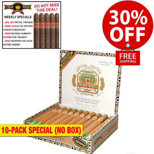 Arturo Fuente Double Chateau Natural (6.7x50 / 10 PACK SPECIAL) + 30% OFF RETAIL! + FREE 5-PACK FUENTE CUBANITOS! + FREE SHIPPING ON YOUR ENTIRE ORDER!