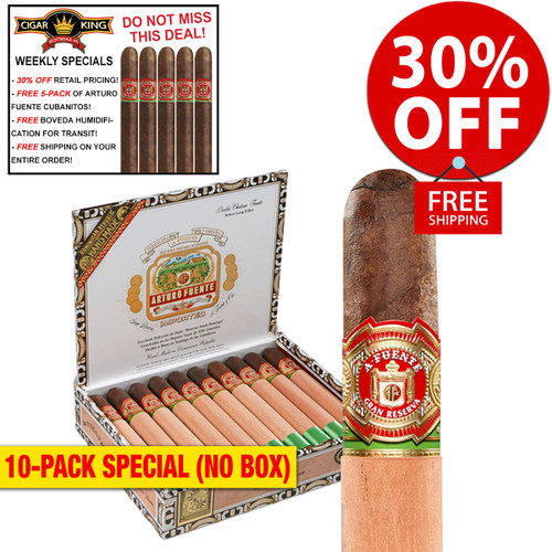 Arturo Fuente Double Chateau Maduro (6.7x50 / 10 PACK SPECIAL) + 30% OFF RETAIL! + FREE 5-PACK FUENTE CUBANITOS! + FREE SHIPPING ON YOUR ENTIRE ORDER!