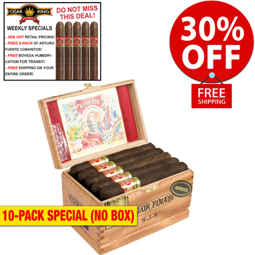 Arturo Fuente 858 Maduro (6x47 / 10 PACK SPECIAL) + 30% OFF RETAIL! + FREE 5-PACK FUENTE CUBANITOS! + FREE SHIPPING ON YOUR ENTIRE ORDER!
