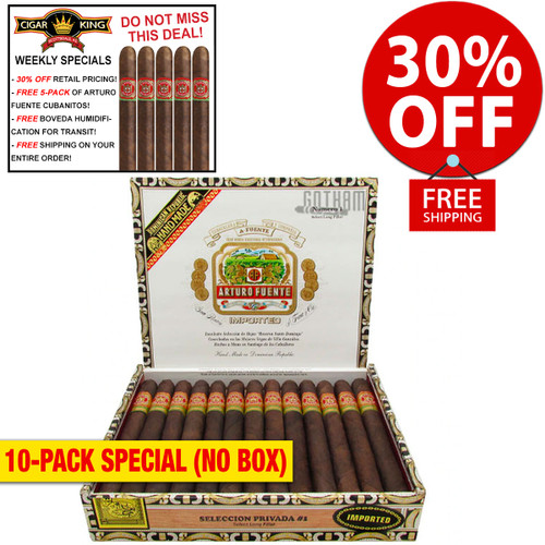 Arturo Fuente Seleccion Privada No. 1 Lonsdale Maduro (6.75x44 / 10 PACK SPECIAL) + 30% OFF RETAIL! + FREE 5-PACK FUENTE CUBANITOS! + FREE SHIPPING ON YOUR ENTIRE ORDER!