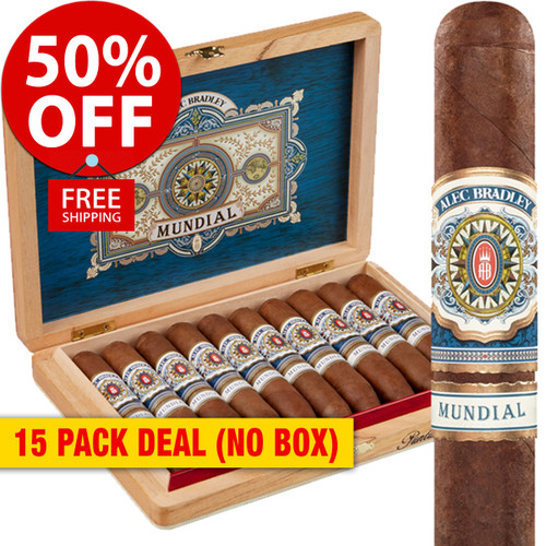 Alec Bradley Mundial PL #5 (5.1x52 / 15 PACK SPECIAL) + 50% OFF RETAIL!
