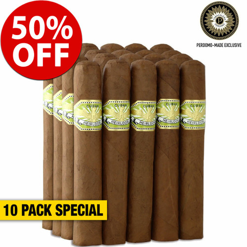 Cuban Heirloom Sungrown Toro (5.5x54 / 10 PACK SPECIAL) + 50% OFF RETAIL!