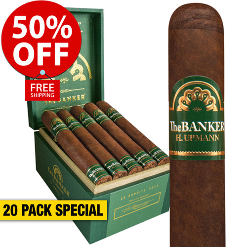 H. Upmann The Banker Annuity (6x52 / 20 PACK SPECIAL) + 50% OFF RETAIL! + FREE SHIPPING ON YOUR ENTIRE ORDER!