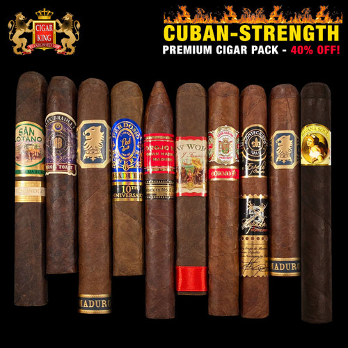 Cuban Strength Premium Cigar Flight (10 PACK SPECIAL) + 40% OFF RETAIL! + FREE SHIPPING ON YOUR ENTIRE ORDER!
