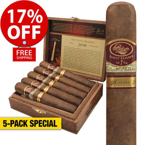 Padron Family Reserve No. 50 Natural (5x54 / 5 Pack) + 17% OFF RETAIL! + FREE SHIPPING ON YOUR ENTIRE ORDER!