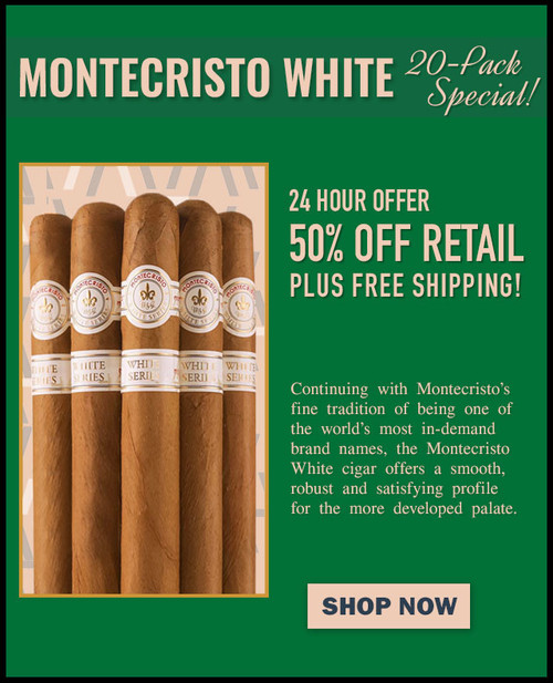 Montecristo White Rothchilde (5x52 / 20 PACK SPECIAL) + 50% OFF! + FREE SHIPPING ON YOUR ENTIRE ORDER!