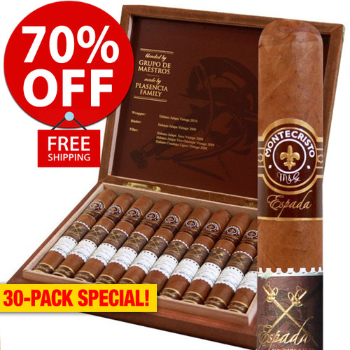Montecristo Espada Guard (6x50 / 30 PACK SPECIAL) + 70% OFF RETAIL! + FREE SHIPPING ON YOUR ENTIRE ORDER!