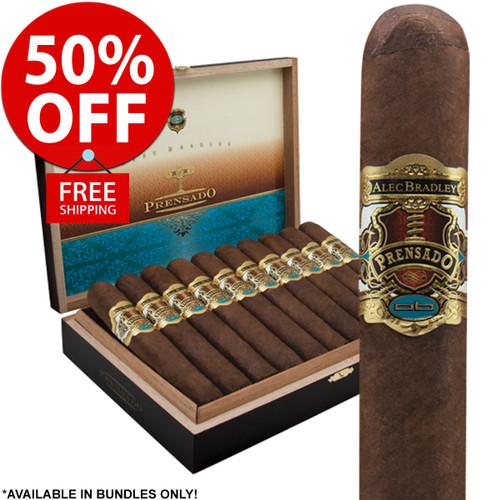 Alec Bradley Prensado Robusto (5x50 / Pack 20) + 50% OFF RETAIL! + FREE SHIPPING ON YOUR ENTIRE ORDER!