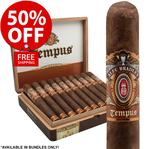 Alec Bradley Tempus Nicaragua Robusto (5x50 / Pack 20) + 50% OFF RETAIL! + FREE SHIPPING ON YOUR ENTIRE ORDER!