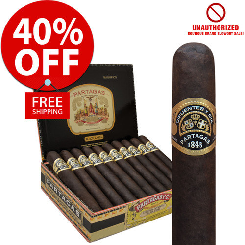 Partagas Black Label Bravo (4.5x54 / 10 PACK SPECIAL) + 40% OFF RETAIL!